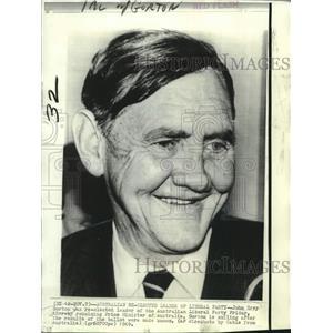 1969 Press Photo John Grey Gorton, Prime Minister of Australia - noo21980