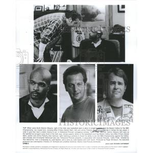 1996 Press Photo Lewis Scott Utah Jazz Basketball Team Single Handedly Boston