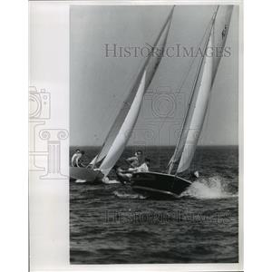 1964 Press Photo A Flying Scot in a boat race off of Milwaukee Yacht club
