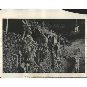 1931 Press Photo Ancient Ossuary Naters Switzerland - RRX83247