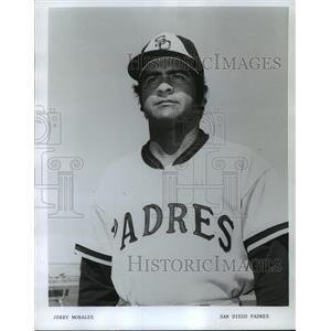 1973 Press Photo Jerry Morales of the San Diego Padres baseball team - mjt05014