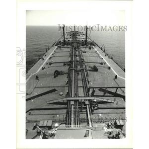 1995 Press Photo Lightering Vessels - The Chevron Nagasaki in Gulf of Mexico