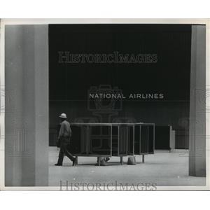 1969 Press Photo Interior view of Houston Intercontinental Airport - hca34991