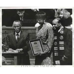 1993 Press Photo Arthur Shores & others at plaque presentation - abna37889