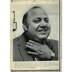 1972 Press Photo Abe Gibron, named new Chicago Bears head football coach