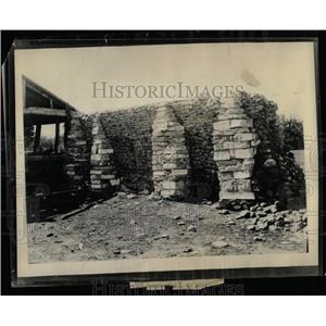 1938 Press Photo Mormon Wall At Fort Bridger - RRX76367