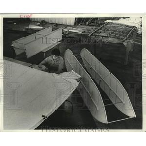 1978 Press Photo Daryl Lenz and Wright Flyer Experimental Aircraft Association