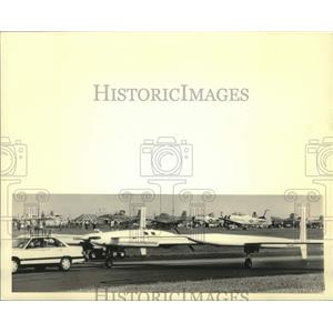 1987 Press Photo Voyager aircraft at Experimental Aircraft Association Fly-In