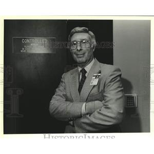 1989 Press Photo Bob Landino, Security consultant for the New Orleans Airport