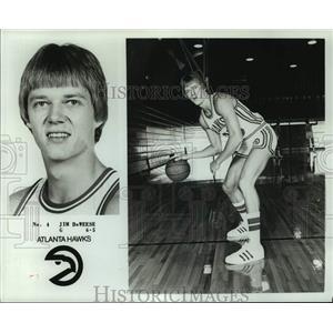 1979 Press Photo Atlanta Hawks basketball player 6'5 Jim DeWeese - nos14222