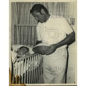 1969 Press Photo New Orleans Saints football player Bill Kilmer - nos17864