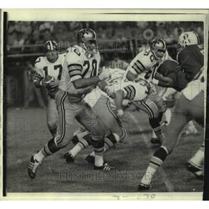 1970 Press Photo New Orelans Saints and Boston Patriots play NFL football