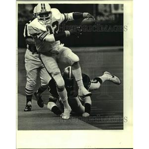 1984 Press Photo New Orleans Saints and Tampa Bay Buccaneers play NFL football