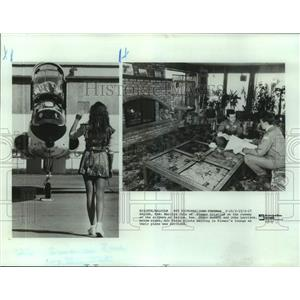 1987 Press Photo Marilyn Cole of Flower Aviation and Air Force Pilots