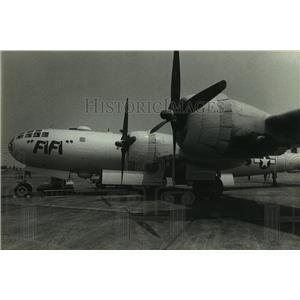 1989 Press Photo B-29 airplane on display, Alabama - amra03686