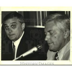 1988 Press Photo Stephen B. Murray and Joe Knecht, New Orleans Aviation officers