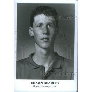 1989 Press Photo Shawn Paul Bradley New Jersey Nets Dallas Mavericks German