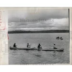 1962 Press Photo U.S. Canadian International Canoe Race