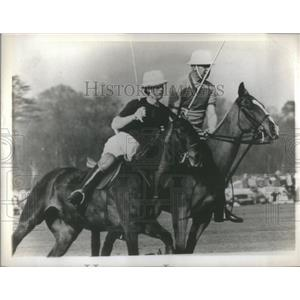 1969 Press Photo Great Britain's Prince Charles playing in a polo match