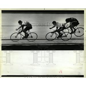 1948 Press Photo Bicycle Races Indoor Competition - RRW05619