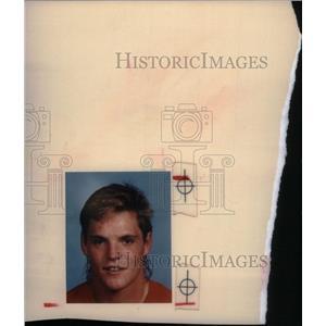 1988 Press Photo Joe Kocur hockey Detroit Red Wings - RRX39465