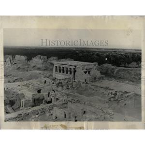 1930 Press Photo Egypt Luxor Palms Nile
