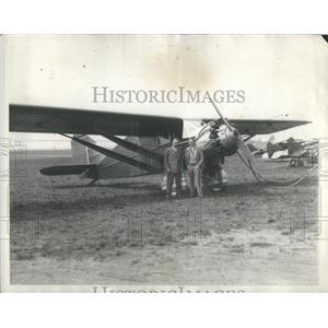 1923 Press Photo Shirley J. Short, navigator and Captain George Haldeman, pilot,