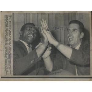 1967 Press Photo Washington Redskins Ray McDonald, Head Coach Otto Graham