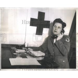 1943 Press Photo Mrs. Milton Reynolds Chicago City Red Cross Executive