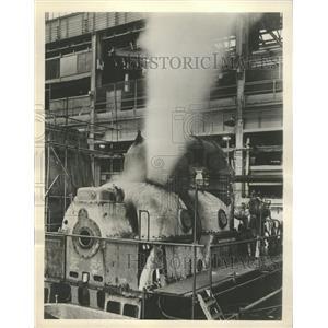 1956 Press Photo Turbine Blows Test Factory England - RRW34397