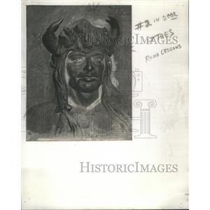 1938 Press Photo Chassogoac, Chief of Illinois tribe