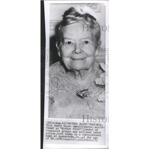 1951 Press Photo Ella Reeve Bloor Omholt Communist Leader Dead Quakertown