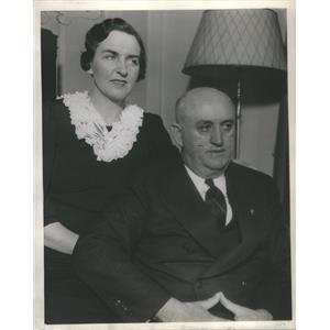 1939 Press Photo Ray Murphy His Wife Anita National Commander American Legion