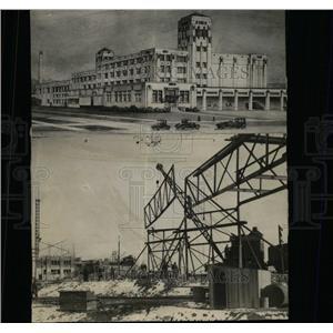 1928 Press Photo Blayney Murphy Company plant bridge - RRX65179