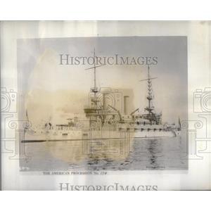 1934 Press Photo USS Alabama - RRX10387