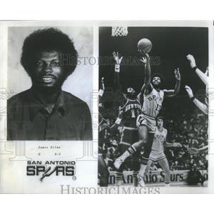 1978 Press Photo James Silas Guard San Antonio Spurs Basketball Player