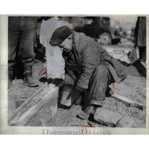 1934 Press Photo CWA Worker DSR Jefferson Detroit - RRX55681