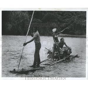 1972 Press Photo Tourists Raft Rio Grande River Jamaica - RRX83771