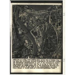 1976 Press Photo Aerial View Kansas City - RRW40143
