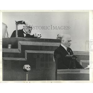1933 Press Photo Singer Guido Jung Italian Minister met - RRX82989
