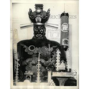 "1935 Press Photo Buddhist ""Judge of Hell"" - RRX70449"