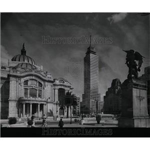 1962 Press Photo Ancient Capital Mexico City Palace