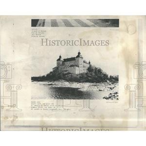 1936 Press Photo Lacko Castle Sweden Lake Vanern