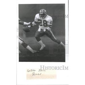 1985 Press Photo GREG BALL FOOTBALL PLAYER BILLS - RSC26455