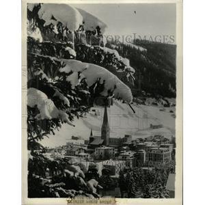 1934 Press Photo Davos Winter Resort Switzerland - RRX69913