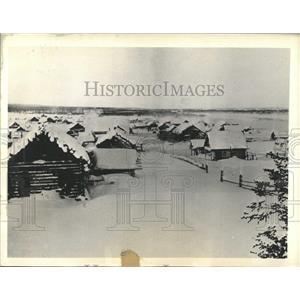 1933 Press Photo Village Markovo Anadir Siberia Winter - RRX99213