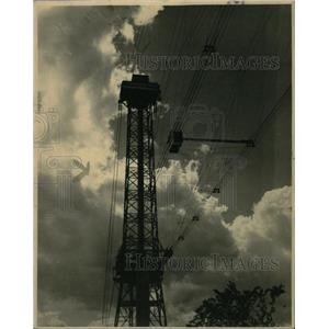 1934 Press Photo Electricity Transmission Tower - RRW23991