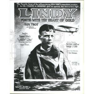 1987 Press Photo Charles Lindbergh Aviator Author Pilot