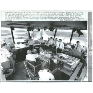 1970 Press Photo Chicago's O'Hare Airport Control Tower