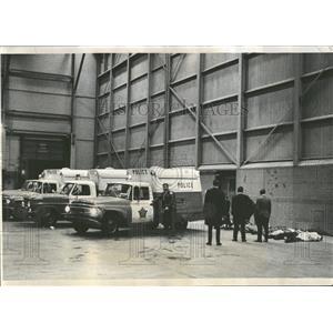 1968 Press Photo OHare Field Police Plane Crash Scene